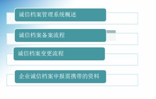 诚信档案管理系统概述