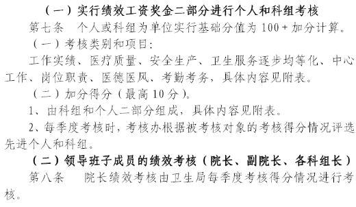 赣县长洛卫生院绩效考核制度