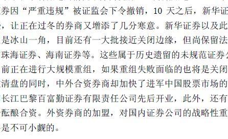 中国证券行业分析报告讲义