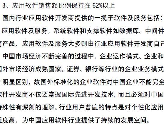 中国软件行业分析报告概述