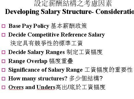 教你如何设定薪酬结构