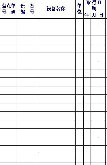 固定资产盘点统计表