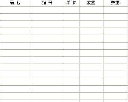 盘点统计管理表(doc 1页)