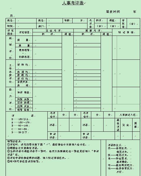 制度表格 表格模板