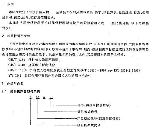 YY0017 2002骨接合植入物 金属接骨板的技术条件 16页 医药标准