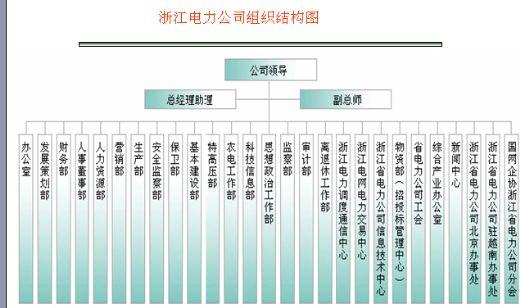 全国省级电力公司的组织架构图(ppt