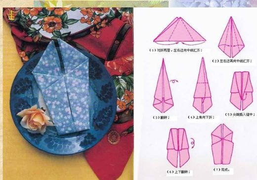餐巾折花[教程