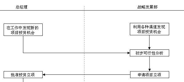 项目投资的流程图