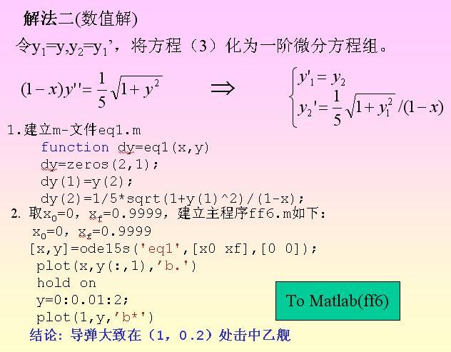 微分方程组matlab的解析解数值解