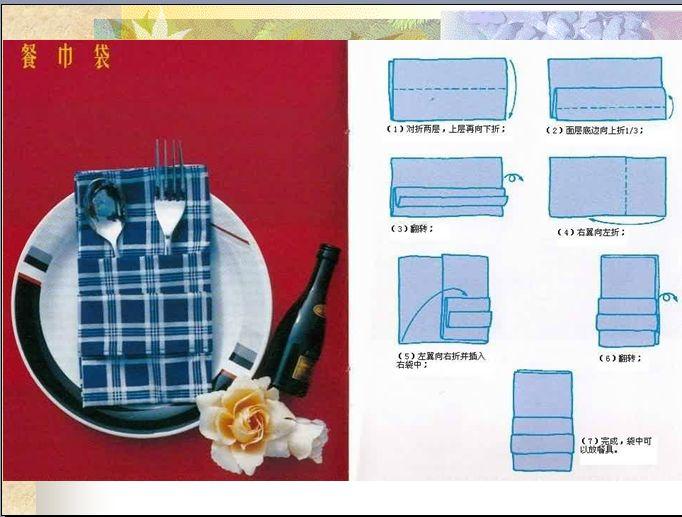 餐巾折花图片