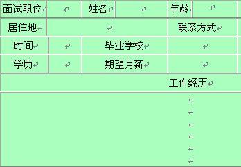 公司人事面试表(doc 1页)-人事表格-精品资料网