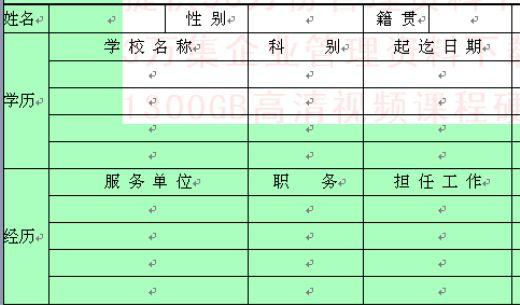 员工花名册与员工履历表(doc 2