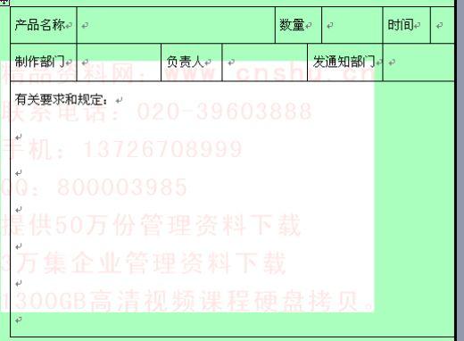 公司产品生产通知单 doc 2页