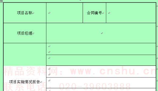 IT项目内部验收报告模板 doc 2页 验收表格