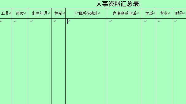 行政检查结果统计表及人事资料汇总表 doc 2页 行政管理表格图片