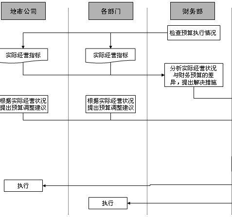 财务预算监控和调整管理流程图(ppt 1页)