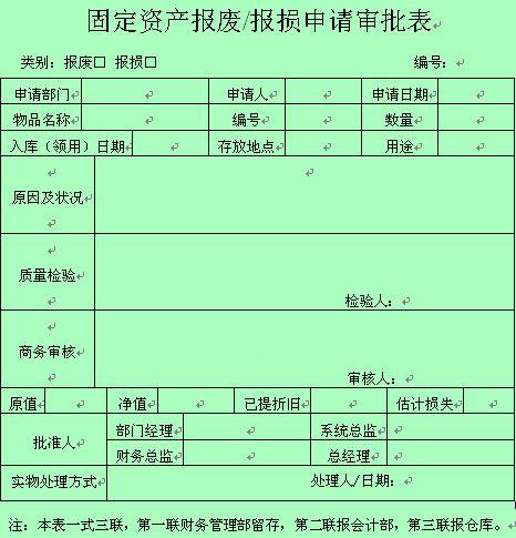财务会计专用表格