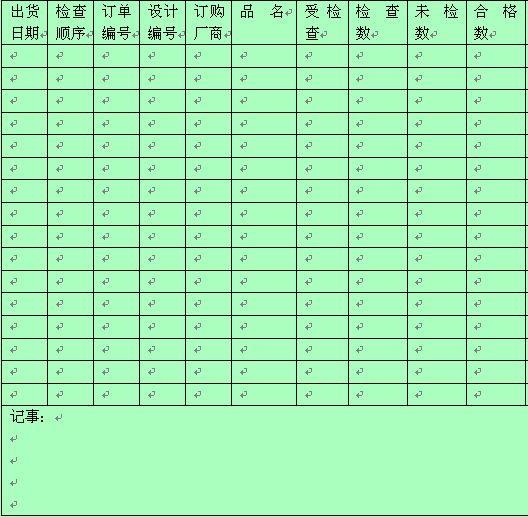 水池清洗及消毒情况记录表