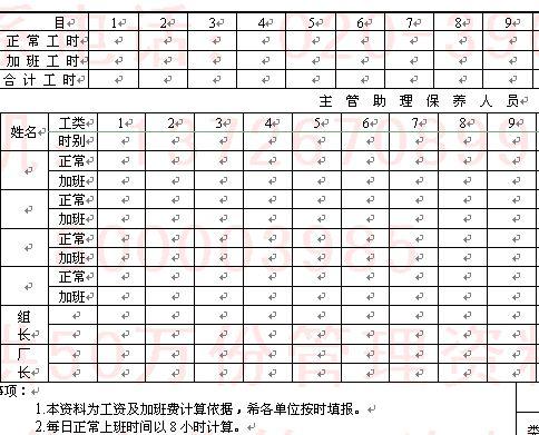 企业员工考勤记录表 2 doc 2页 员工管理表格
