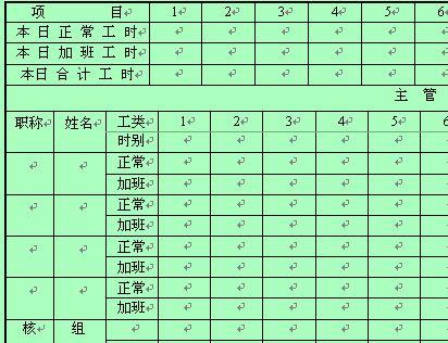 知名企业员工考勤记录表 doc 2页 员工管理表格