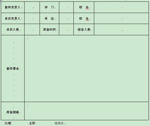 1页)-酒店表格-精品资