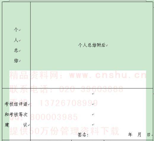 大学生村官年度考核登记表汇编(doc 8页)